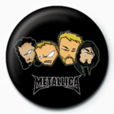 METALLICA - heads GB Badge
