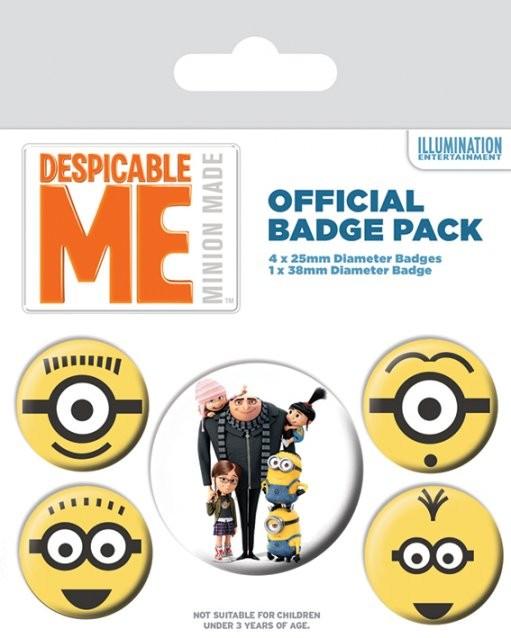 Badge set Minions (Despicable Me) - Minions
