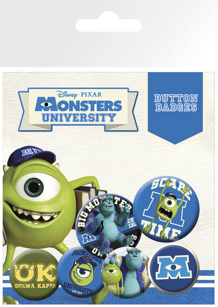 MONSTERS UNIVERSITY Badges