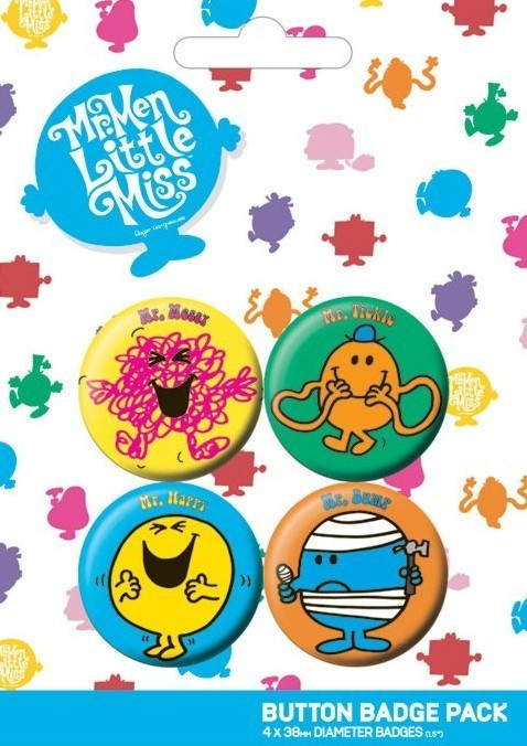 MR MEN Badge Pack