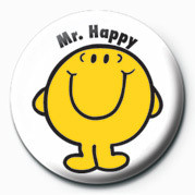 MR MEN (Mr Happy) Badge