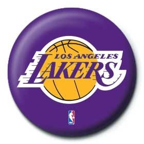 Nba los angeles lakers logo badge button sold at europosters nba los angeles lakers logo badge voltagebd Image collections
