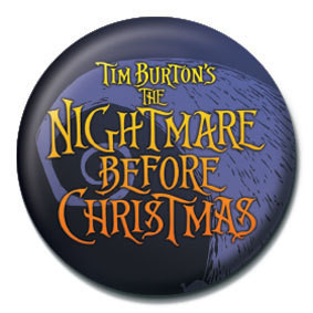 NIGHTMARE BEFORE CHRISTMAS - logo Badges