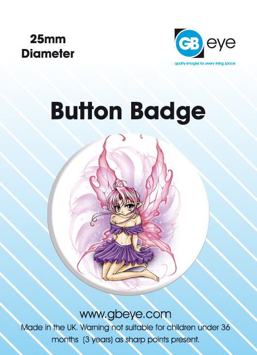 ODM BUBBLEGUM FAIRY Badge