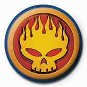 OFFSPRING - FLAME  HEAD Badges