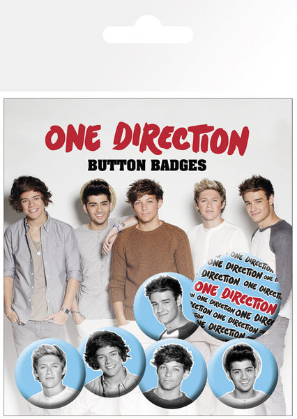 Badge set One Direction (B&W)