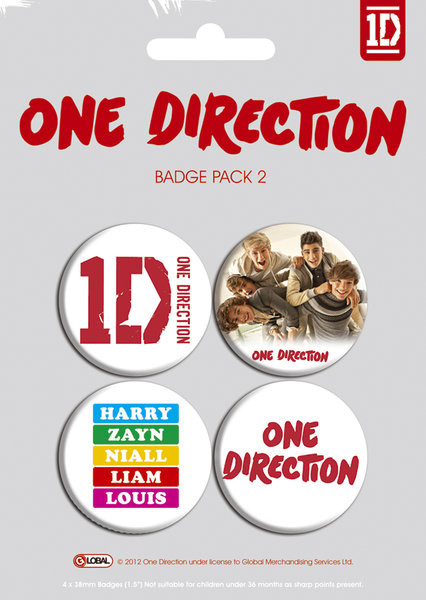 ONE DIRECTION - pack 2 Badge Pack