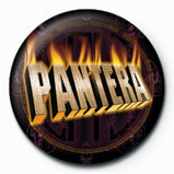 PANTERA - flaming Badge