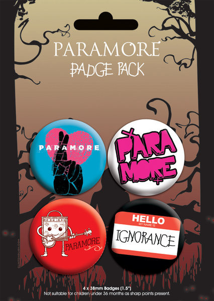 Badges PARAMORE - pack 2