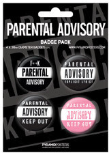 Badges PARENTAL ADVISORY