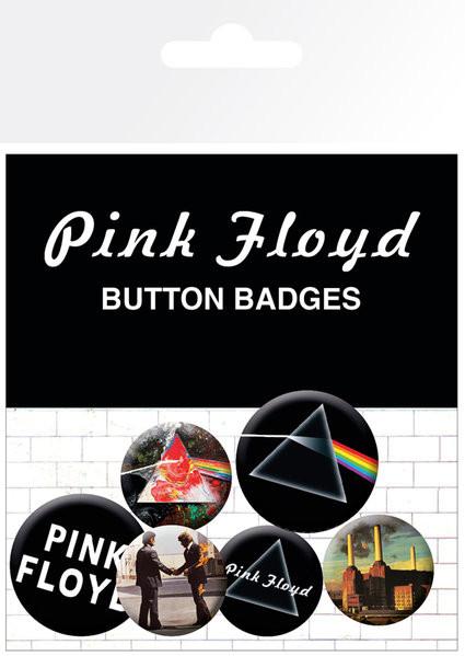 Pink Floyd - Album and Logos Badge Pack