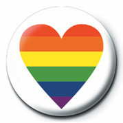 PRIDE - HEART Badges