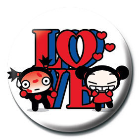 PUCCA - love sign Badge