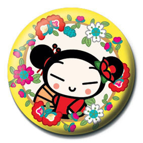 Pucca Yellow Flowers Badge Button Sold At Europosters