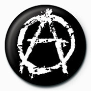 PUNK - ANARCHY - (WHITE) Badges