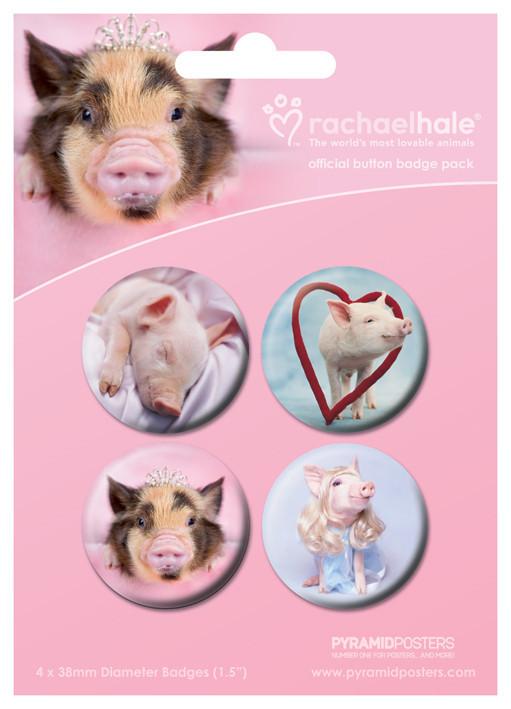 Badges RACHAEL HALE - cerdos