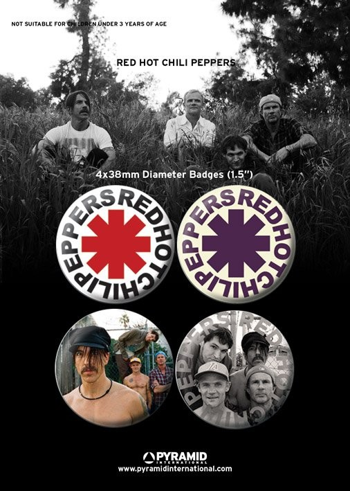 RED HOT CHILLI PEPPERS Badge Pack
