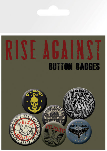 Rise Against - Shaking Hands Badge Pack