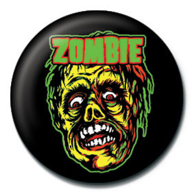 ROB ZOMBIE - zombie face Badges