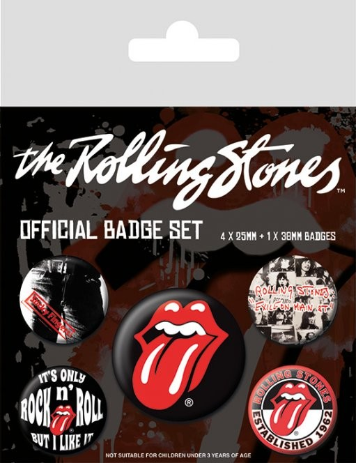 Rolling Stones - Classic Badge Pack