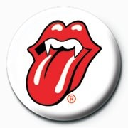 Rolling Stones - Lips fangs Badge