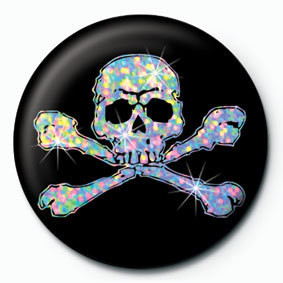 SILVER SKULL Badge
