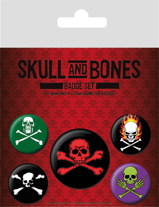 Skull and Bones Badge Pack
