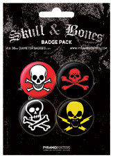 Badges SKULL AND CROSSBONES