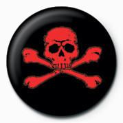 SKULL & CROSSBONES (RED) Badge