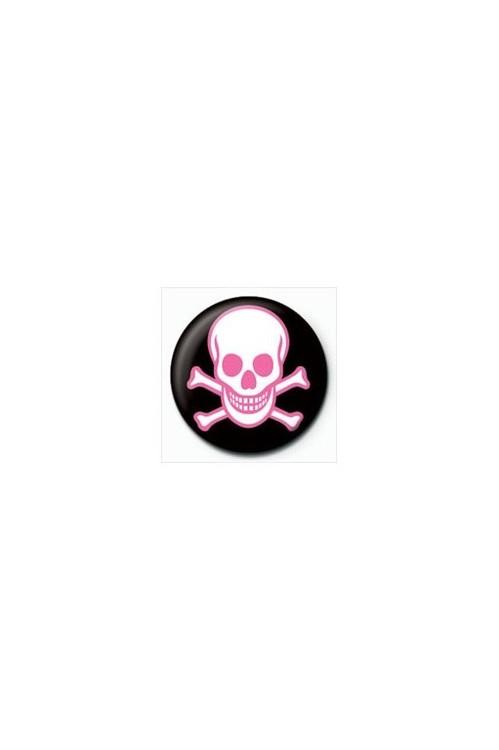 SKULL - pink Badge