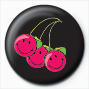 SMILEY - CHERRIES Badge
