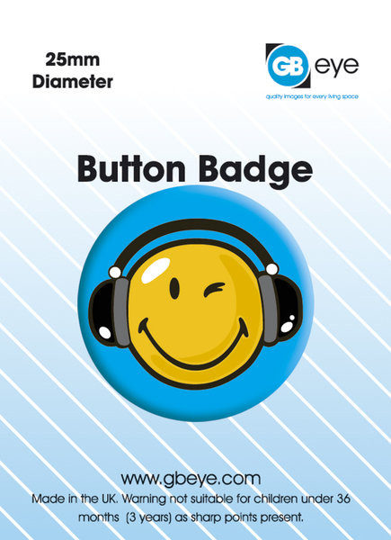 SMILEY HEADPHONES Badge