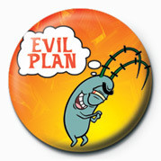 SPONGEBOB - evil plan Badge