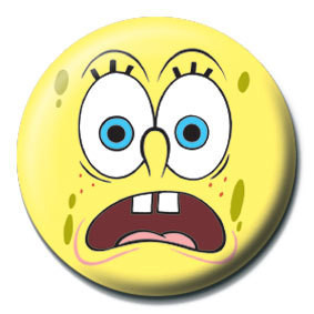 SPONGEBOB - scared Badges