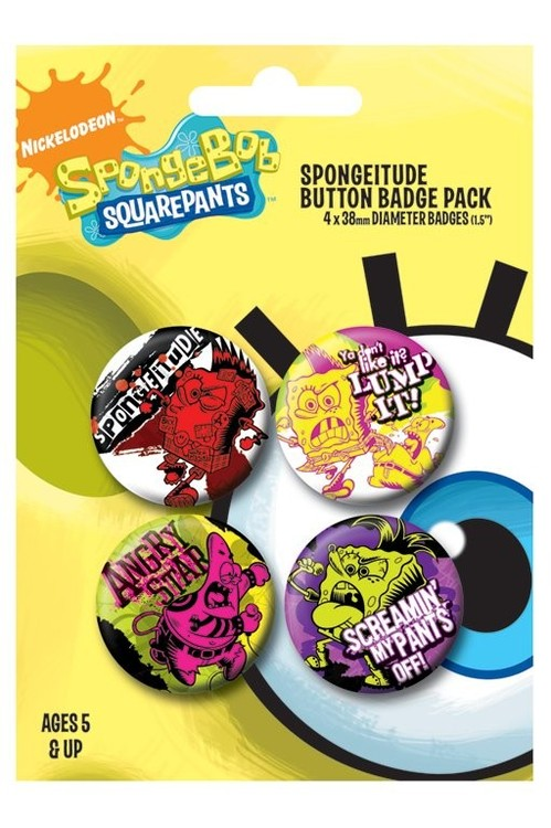 SPONGEBOB - spongitude Badge Pack