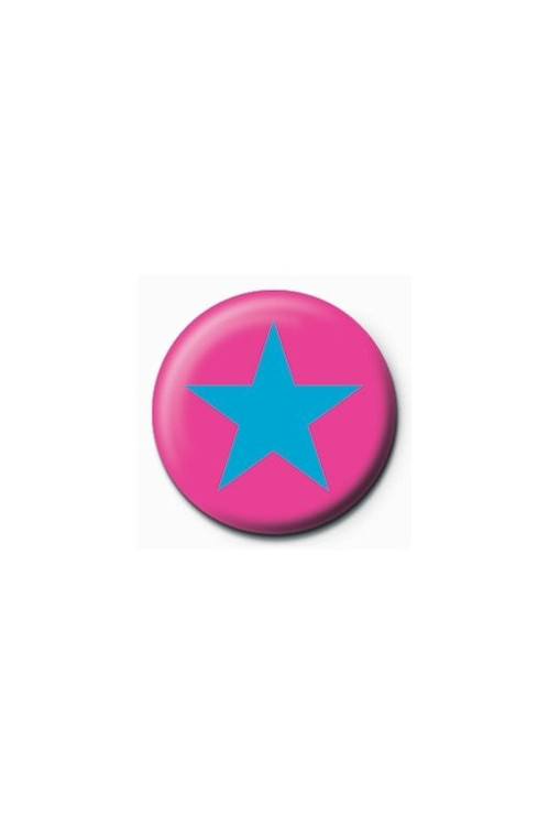 STAR - pink/blue Badges