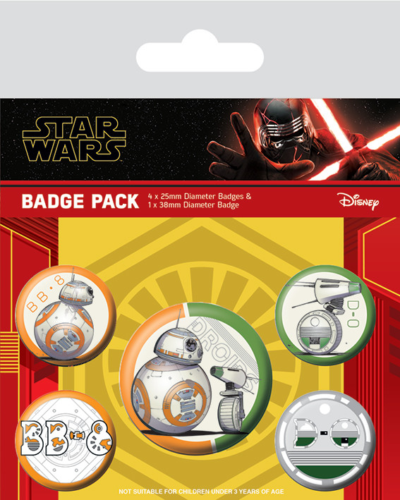 Star Wars: The Rise of Skywalker - Droids Badge Pack
