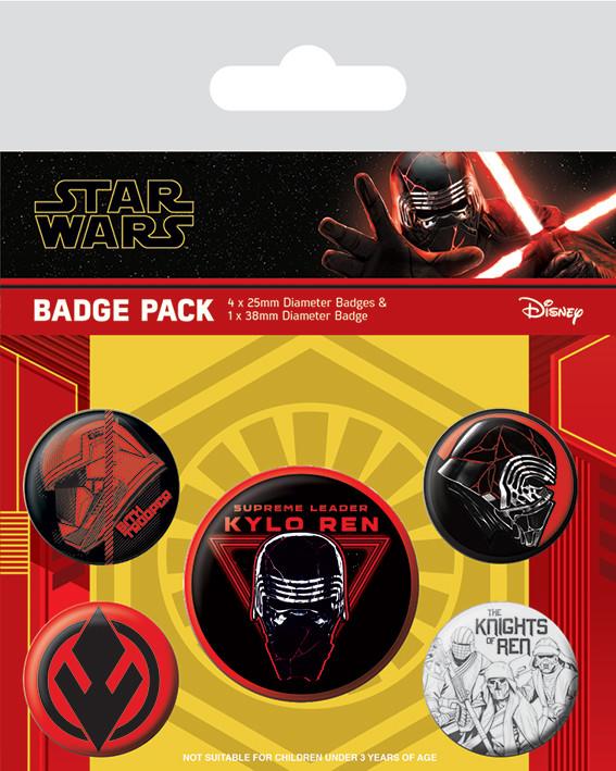 Badge set Star Wars: The Rise of Skywalker - Sith