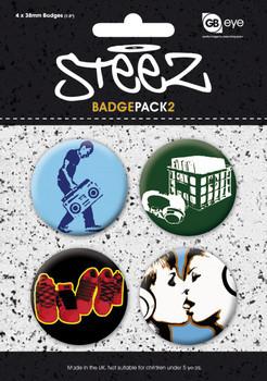 STEEZ - Pack 2 Badges