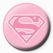 SUPERMAN - logo/pink Badges