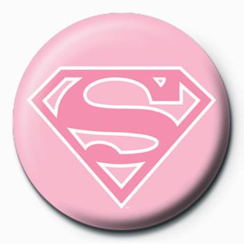SUPERMAN - logo/pink Badge