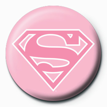 SUPERMAN - logo/rosa Badges