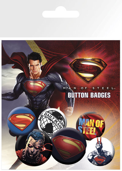 SUPERMAN MAN OF STEEL Badge Pack