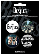 Badges THE BEATLES - Black