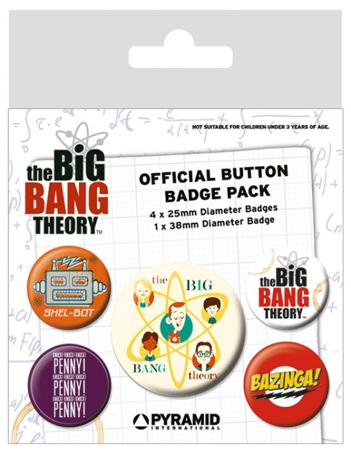 The Big Bang Theory - Characters Badge Pack