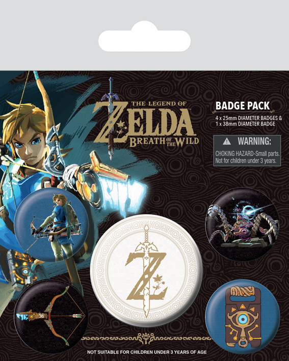 The Legend of Zelda: Breath Of The Wild - Z Emblem Badge Pack
