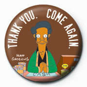 THE SIMPSONS - apu thank you  Badge