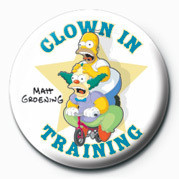THE SIMPSONS - clown in training Badges