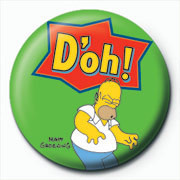 THE SIMPSONS - homer d'oh green Badge