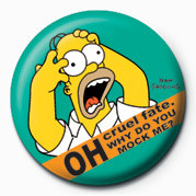 THE SIMPSONS - homer screamin' Badges